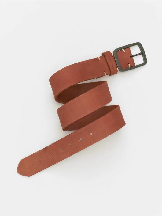 Dickies Pásky Eagle Lake Leather hnědý