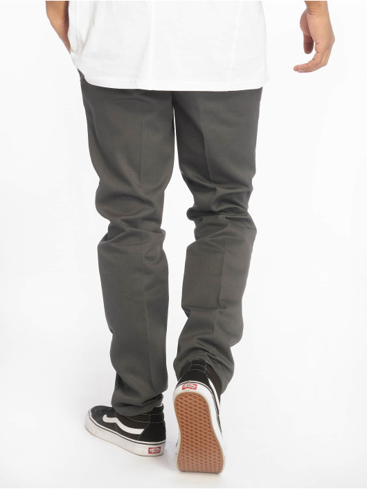 Homme Chino Dickies Pantalon Slim Fit Gris 190323 Work Ybf7gy6