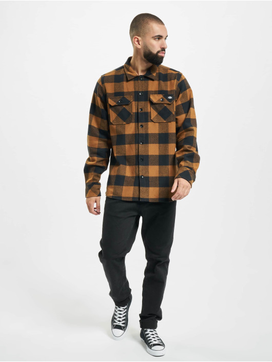 Dickies Shirt Sacramento Relaxed Long Sleeve brown