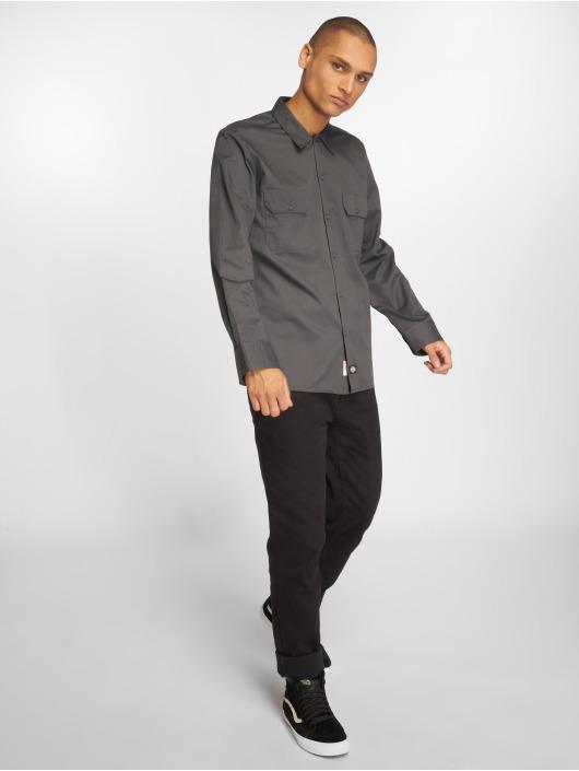 Dickies Shirt Slim Work grey