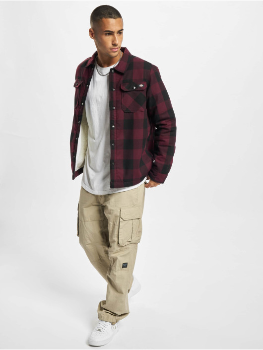 Dickies Shirt Sherpa Lined red