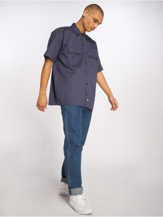 Dickies Skjorter Shorts Sleeve Work blå