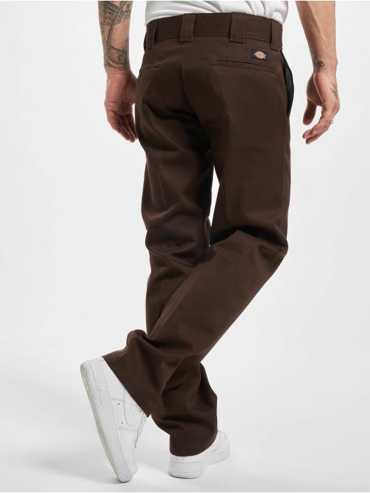 Dickies Spodnie wizytowe Slim Straight Work brazowy