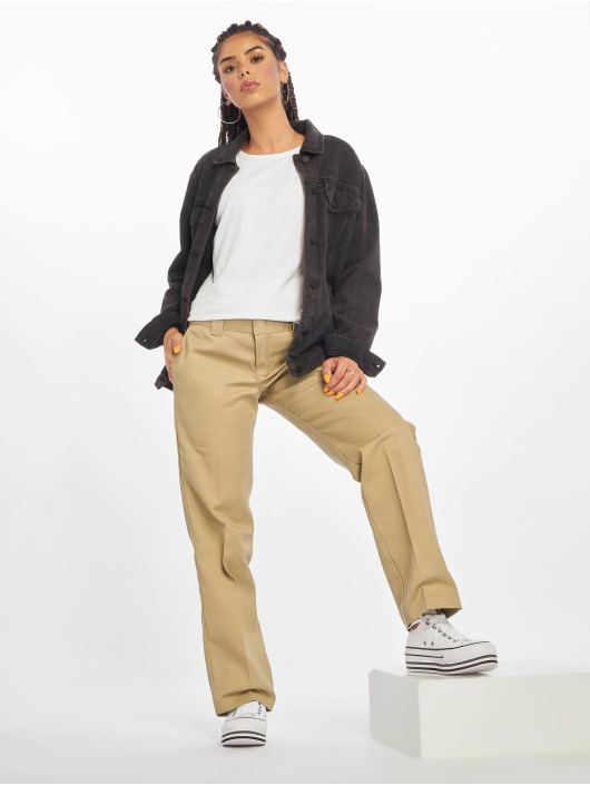 Dickies Spodnie wizytowe Slim Strght Work khaki