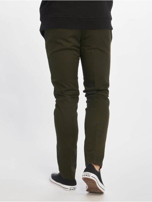 Dickies Spodnie wizytowe Slim Fit Work oliwkowy
