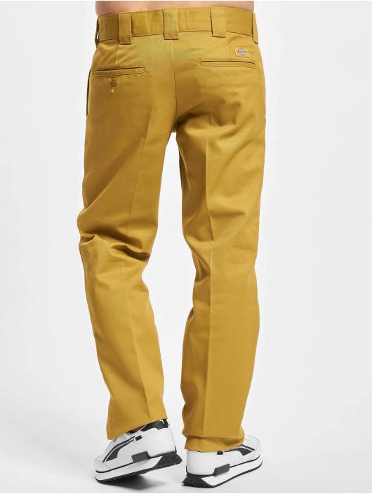 Dickies Spodnie wizytowe Slim Straight Work zólty