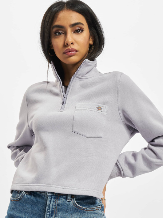 Dickies Swetry Oakport Quarter Zip fioletowy
