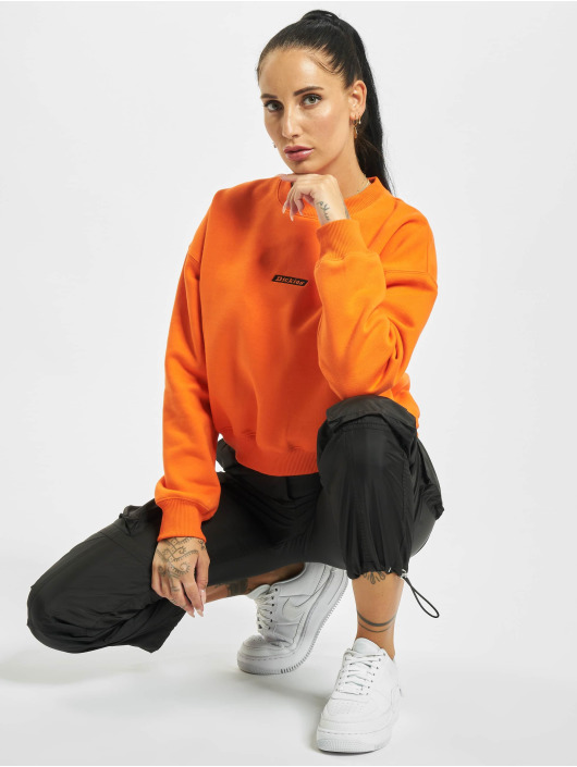 Dickies Swetry Ferriday Cropped pomaranczowy