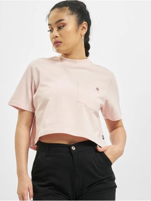 Dickies T-paidat Porterdale Crop vaaleanpunainen