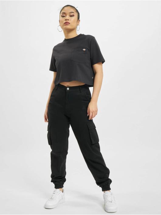 Dickies T-shirt Porterdale Crop nero