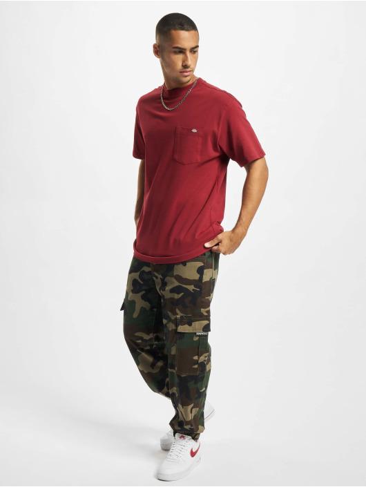 Dickies T-Shirty Porterdale czerwony