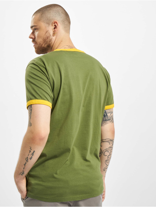Dickies T-Shirty Bakerton Regular Ringer zielony