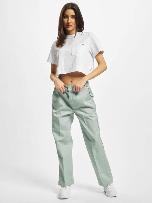 Dickies T-skjorter Porterdale Crop hvit