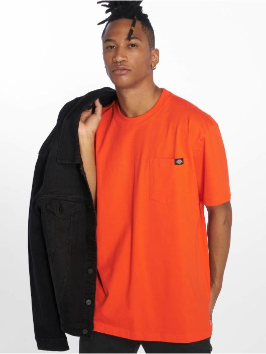 Dickies T-skjorter Pocket oransje