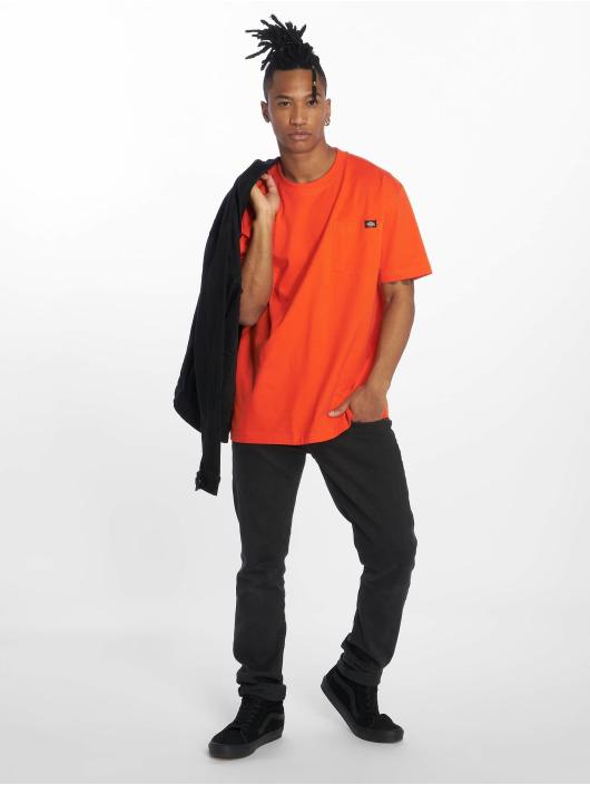 Dickies Tričká Pocket oranžová