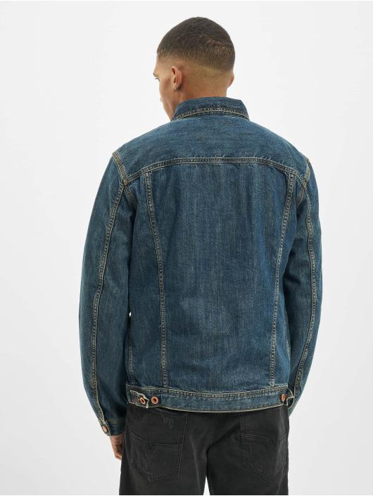 Diesel Džínová bunda Denim modrý