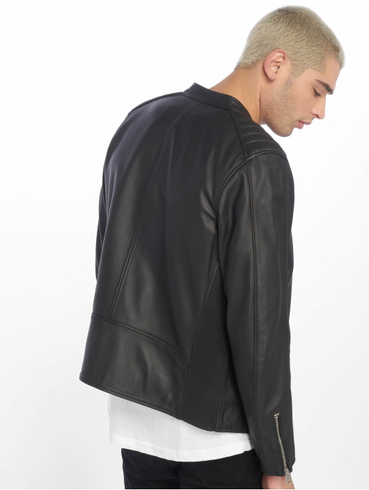 Diesel Leather Jacket L-Quad black