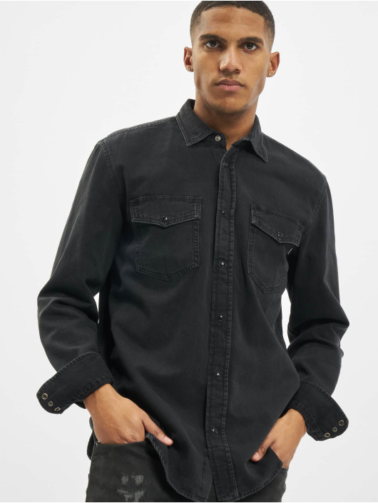 Diesel overhemd D-Rooke zwart