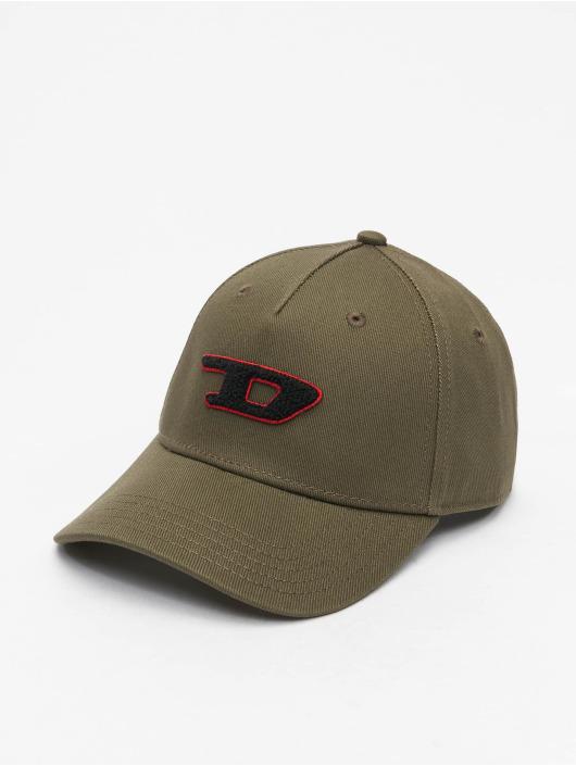 Diesel snapback cap C-Digra olijfgroen