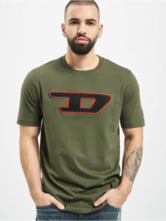 Diesel t-shirt T-Just-Division-D olijfgroen