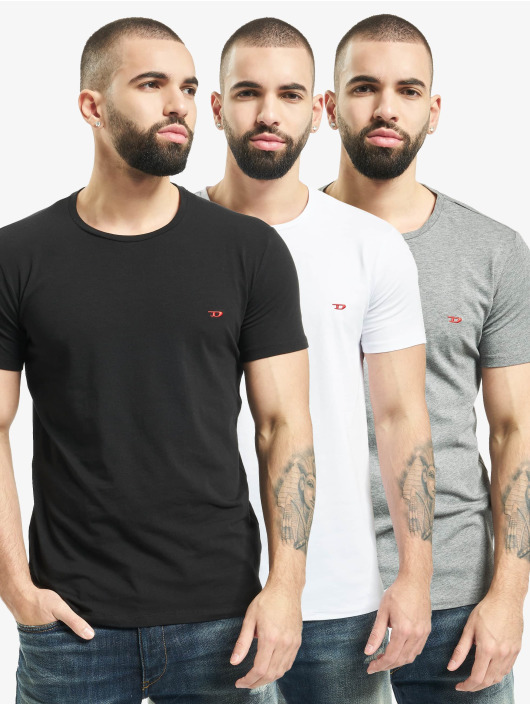 Diesel T-Shirt UUMTEE-Randalthreepack schwarz