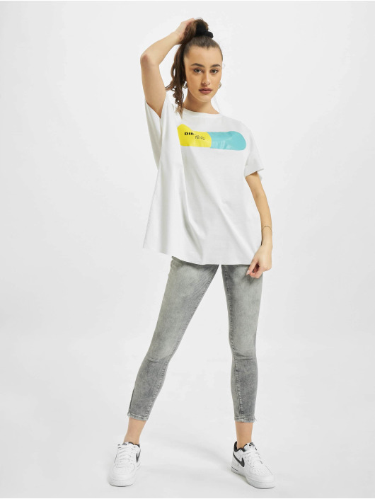 Diesel T-shirts T Hanna Ba hvid