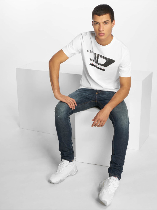 Diesel T-Shirty Just-Y4 bialy