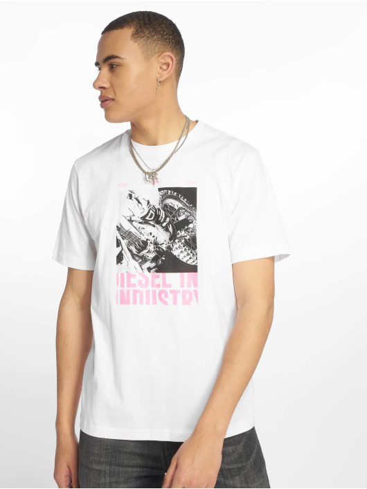Diesel T-Shirty Just-Y3 bialy