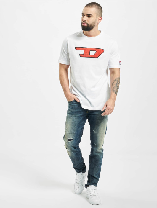 Diesel T-Shirty T-Just-Division-D bialy