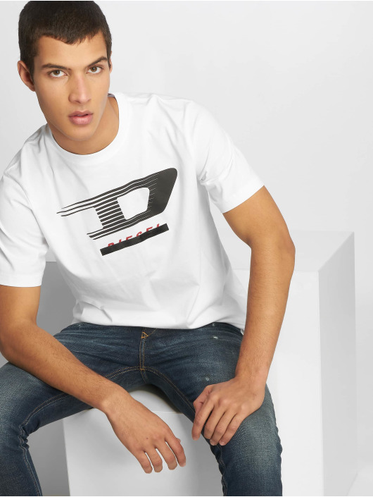 Diesel T-skjorter Just-Y4 hvit