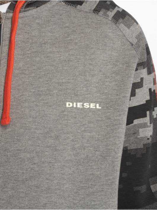 Diesel Zip Hoodie Umlt-Brianz серый
