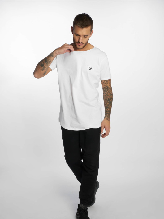 Distorted People Camiseta Cutted Neck blanco