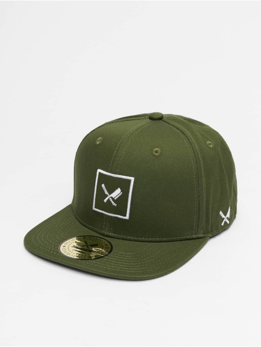 Distorted People Snapback Cap Framed green