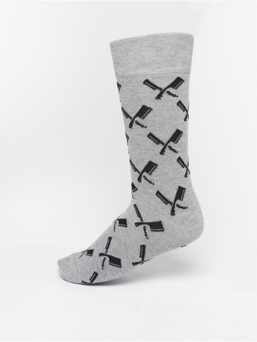 Distorted People Socken Allover Blades grau