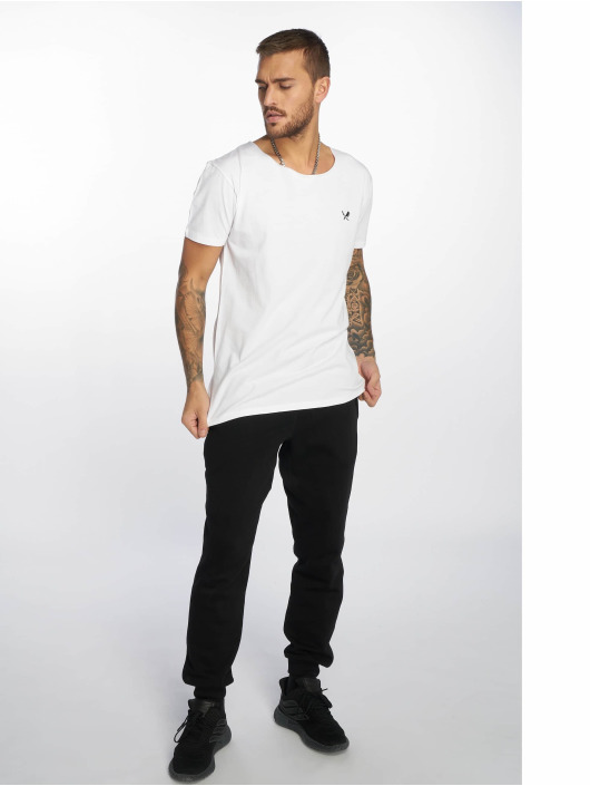 Distorted People T-Shirt Cutted Neck blanc