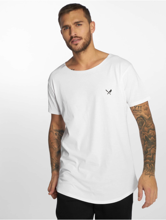 Distorted People T-shirt Cutted Neck vit