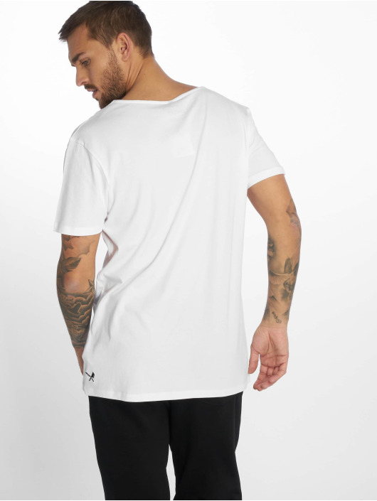 Distorted People T-Shirt Cutted Neck white