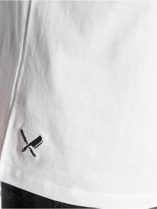 Distorted People T-Shirt BB Blades Cutted white