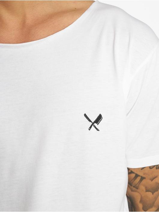 Distorted People T-skjorter Cutted Neck hvit