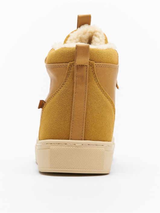 Djinns Baskets Trek High Fur P-Leather beige