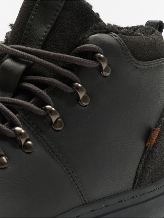 Djinns Baskets Trek High Fur P-Leather gris