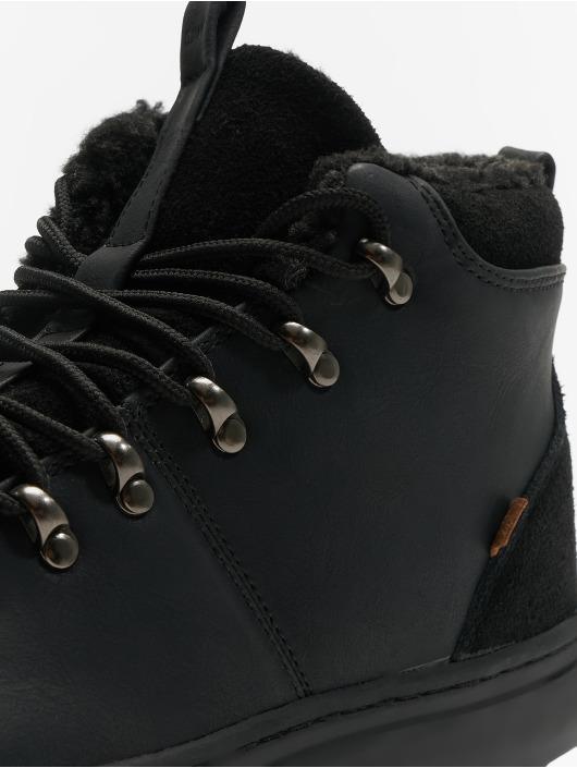 Djinns Baskets Trek High Fur P-Leather noir