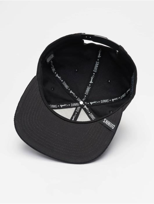 Djinns Snapback Cap 6P Corduroy Nature black