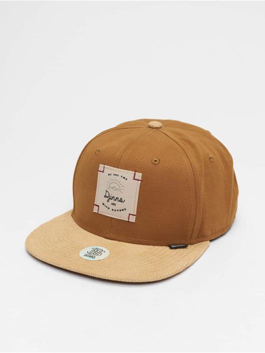 Djinns Snapback Cap 6P Corduroy Nature brown