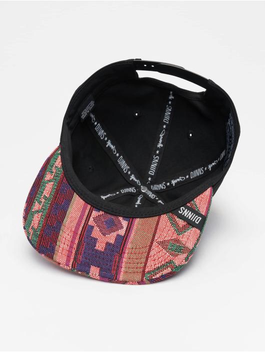 Djinns Snapback Cap 6P Deconstructed Aztek schwarz