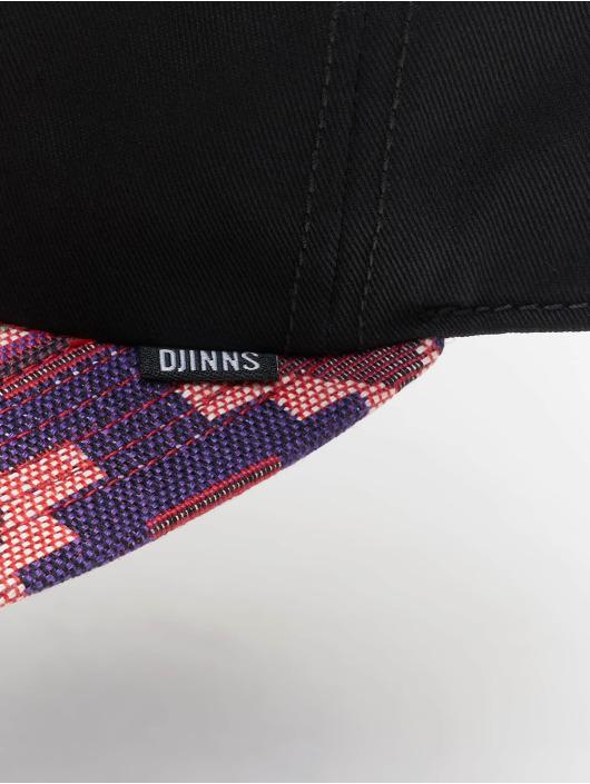 Djinns Snapback Caps 6P Deconstructed Aztek czarny
