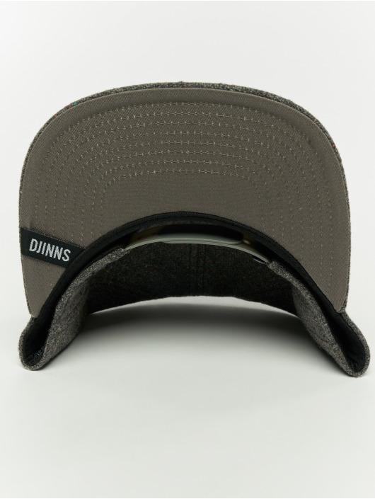 Djinns Snapback Caps 5p Spotted Edge grå