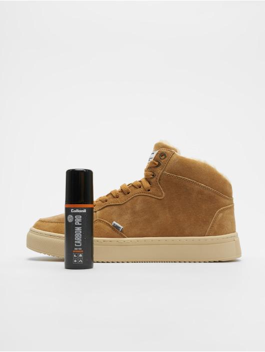 Djinns Sneaker Highwaik Fur Suede beige