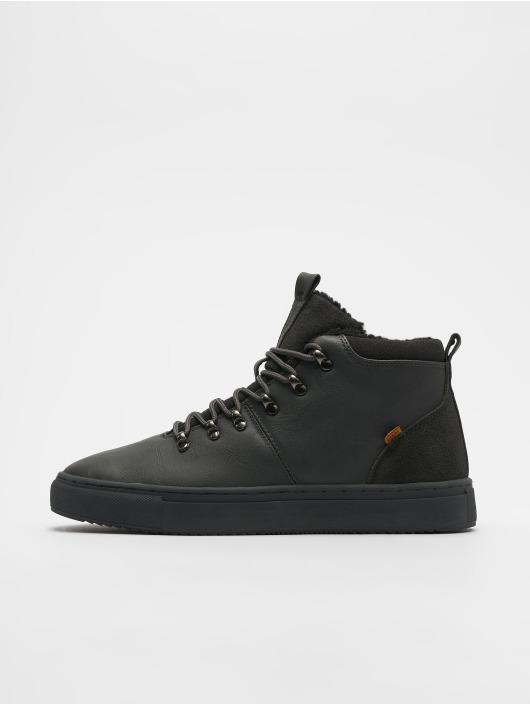 Djinns Sneaker Trek High Fur P-Leather grau