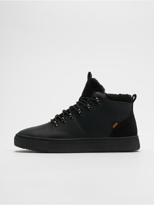 Djinns Sneaker Trek High Fur P-Leather schwarz